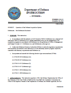 DoD Instruction 5000.02 Defense Acquisition 26 Nov 13