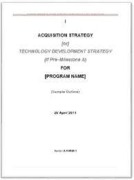 Acquisition strategy acqnotes acquisition strategy pronofoot35fo Images
